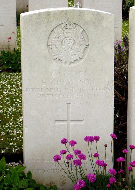 Headstone Edward Rainsford Harrison