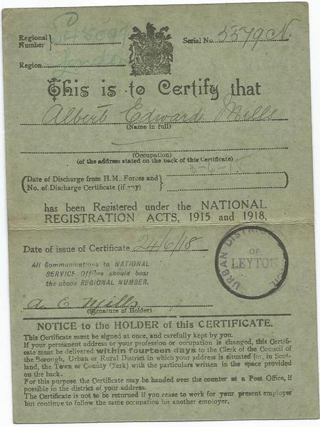 National Registration Card