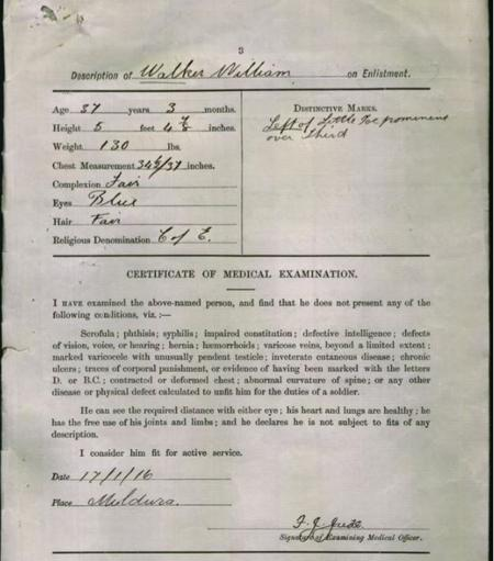 William Walker Attestation Papers one