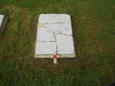Pte William Walkers Gravestone at Arnos Grove