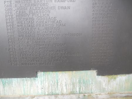 William Walker Panel inscription