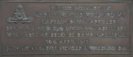 Memorial to Garth Neville Walford VC