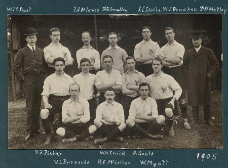 Team photo 1905 - from Barclay's Bank photo albums