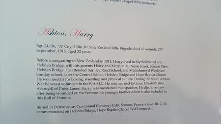 Hebden Royd Roll of Honour
