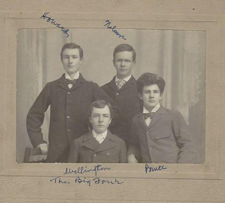 """James Bruce Gould's Family  """"The Big Four"""""""