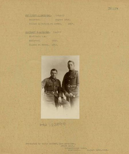 John Elliot Lavender (right) and brother William