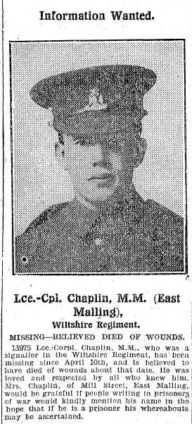 Profile picture for Walter Henry Chaplin