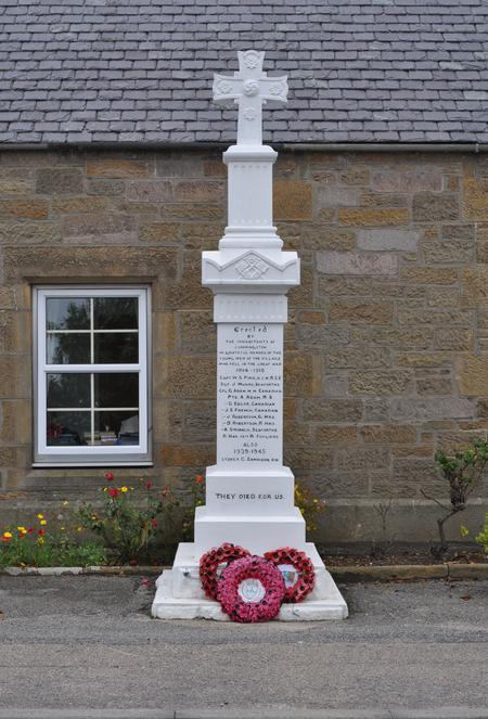 Cummingston War Memorial - Front View