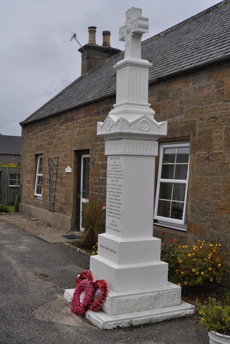 Cummingston War Memorial - Side View