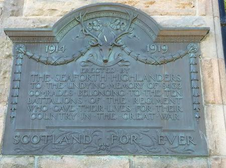 Seaforth Highlanders Memorial Elgin