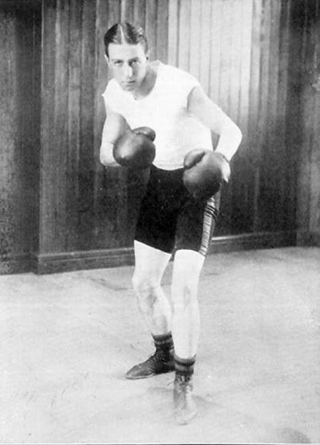 Johnny Douglas as a boxer at the 1908 Olympics