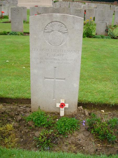 Second Lieutenant T Seale, Royal Munster Fusiliers