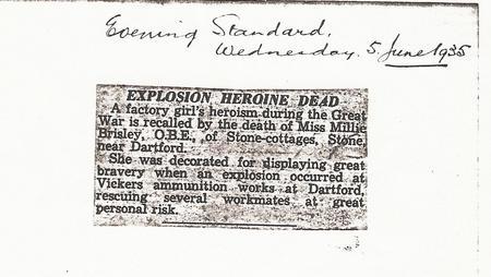 Death notice for Amelia Brisley