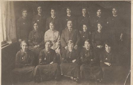 Amelia Brisley and fellow Powder Mills girls