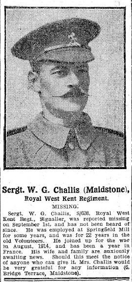 Profile picture for Walter George Challis