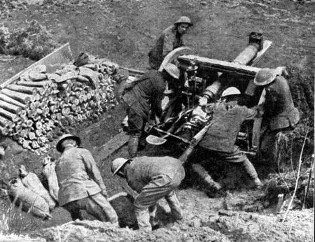 RFA firing a howitzer