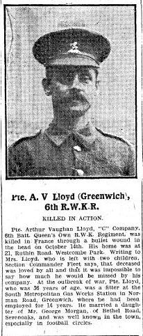 Profile picture for Arthur Vaughan Lloyd