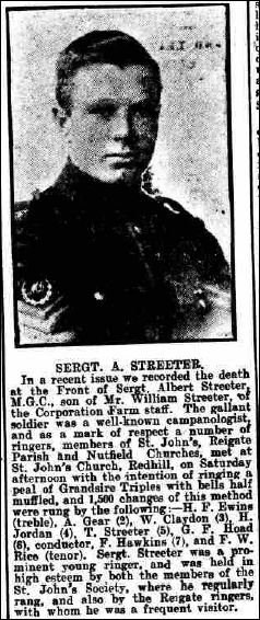 Report related to the death of Albert Streeter