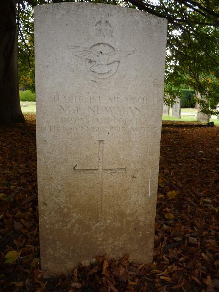 M L Newman grave in Maidstone Cemetery