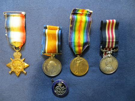 WW1 medals awarded to L/Corp Cyril Ruff Front