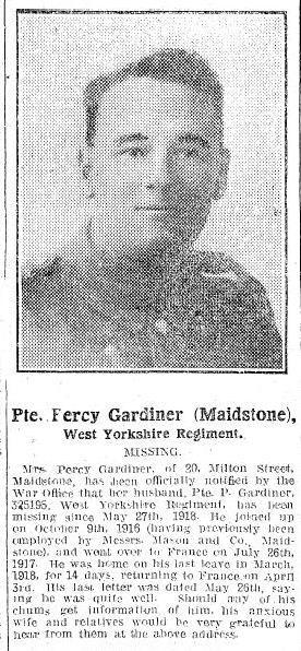 Profile picture for Percy Douglas Gardiner