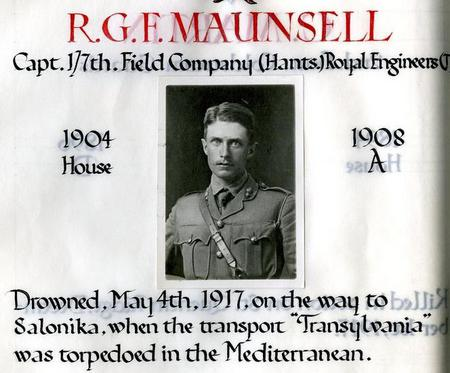 Profile picture for Robert George Frederick Maunsell