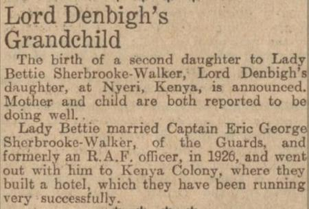 Lord Denbigh's Grandchild
