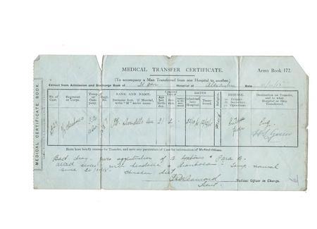 Medical Transfer Certificate