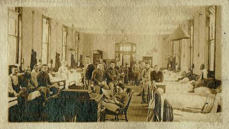 Sam Swindells in Hospital Dec 1915 or early 1916