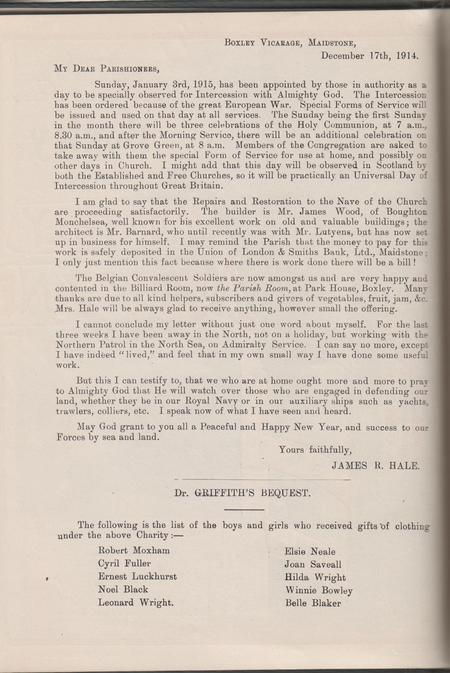Boxley Parish Magazine January 1915