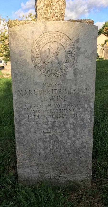 Profile picture for Marguerite Muriel St J Erskine