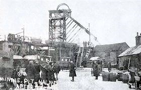 The Minnie pithead Podmore Colliery Halmerend