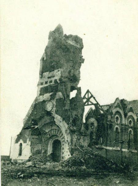 Loos church in 1915