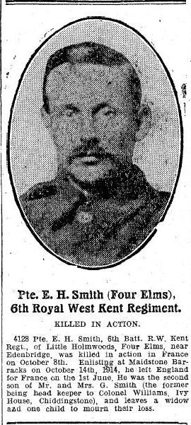 Profile picture for Ernest Harold Smith
