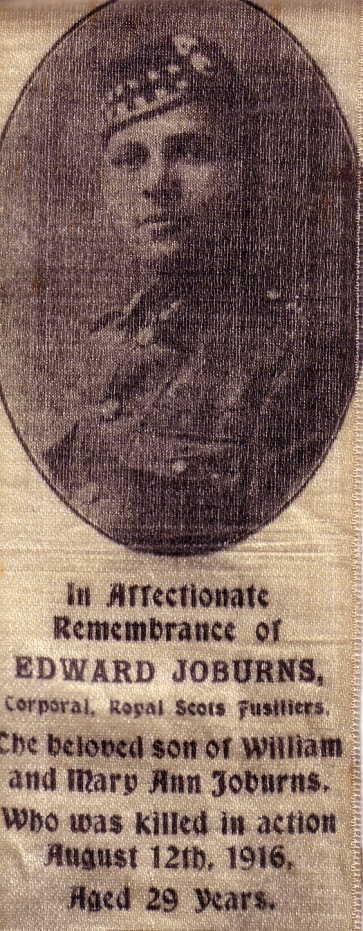 Edward Roburns memorial bookmarker