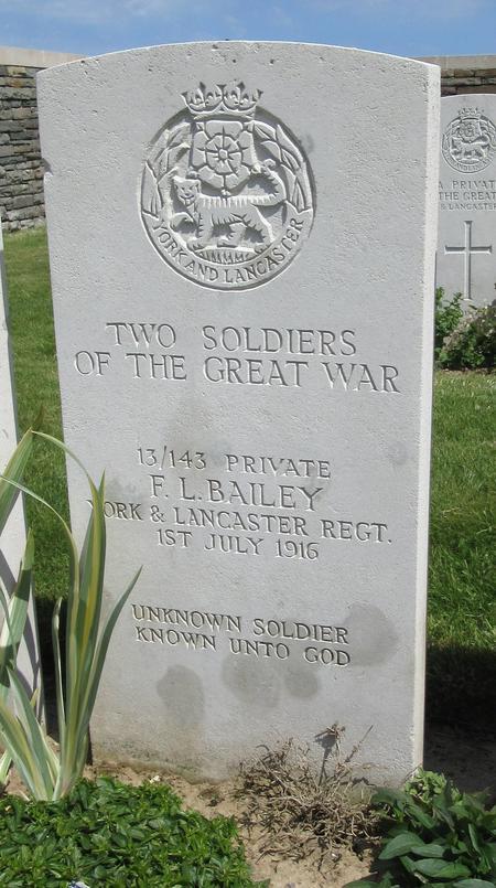 Gravestone of F. L. Bailey