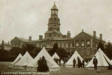 Cambridge Military Hospital in Aldershot camp