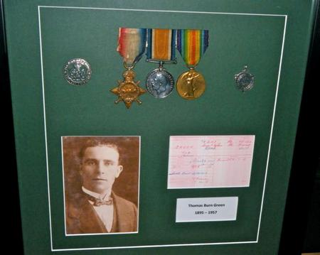 Thomas B. Green. WWI medals