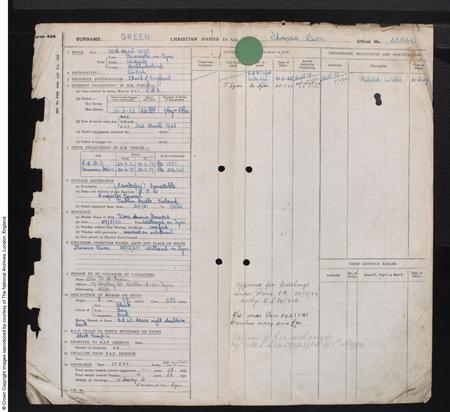 British Royal Air Force, Airmans Service Record
