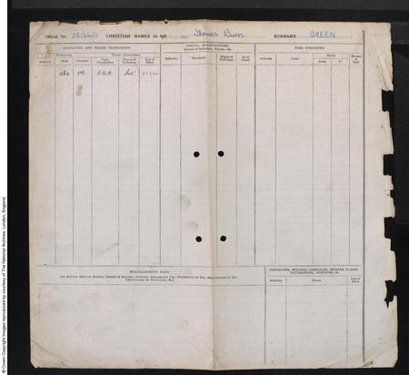British Royal Airforce Service Record cont.