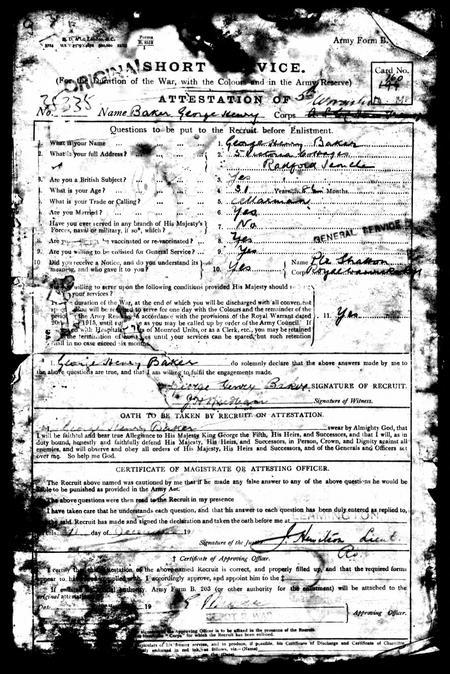 WW1 Army Records 1