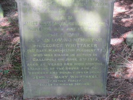 Memorial to George Whittaker