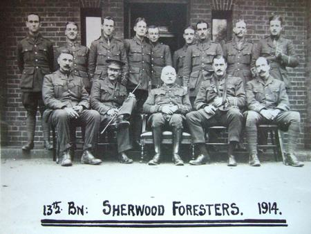 Sherwood Foresters 1914