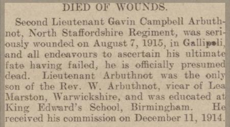 Died of Wounds