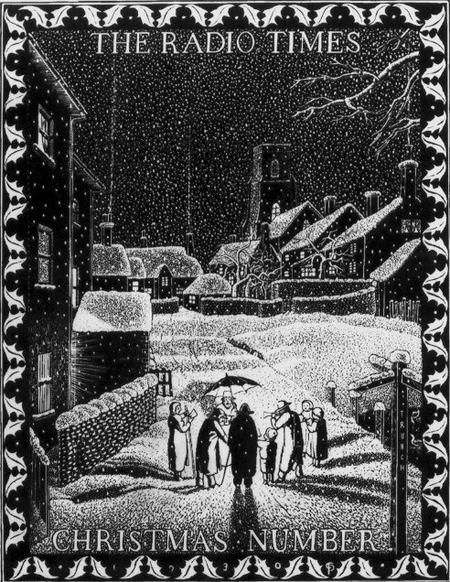 """""""Carol Singers"""", wood engraving - Claughton Pellew"""