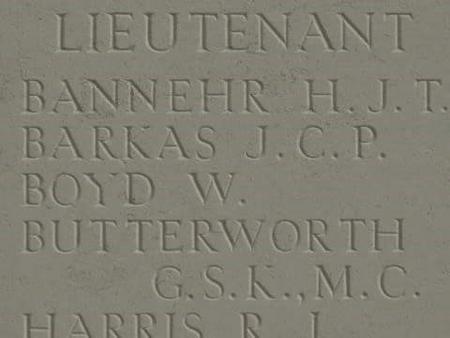 Panel Pozieres Memorial