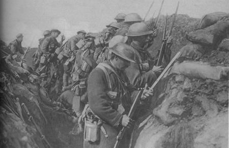 Canadian Infantry fixing bayonets