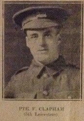 Pte. F. Clapham. 5th Leicesters.