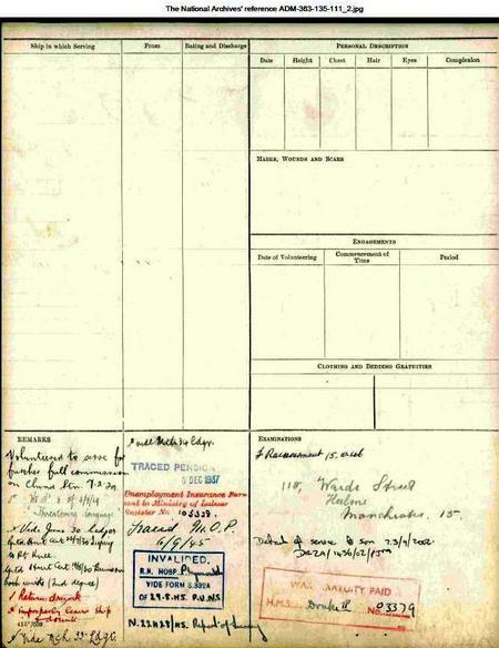 John Collins 1929-45 RN service