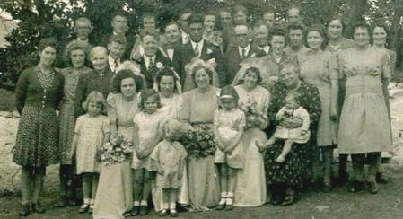 John Collins-wedding group Jun 1945